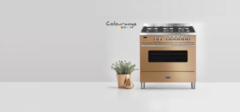 Colourange Cooker next to plants and logo